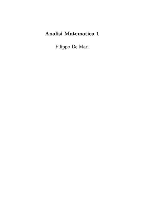 dispense analisi matematica 1 dispense analisi 1 dispense