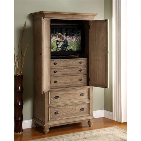 Bedroom Furniture Armoires by Riverside Furniture Coventry Armoire In Driftwood 32463