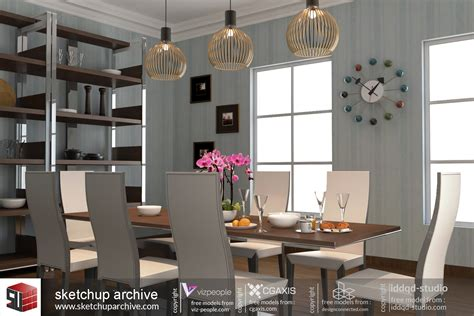 sketchup tutorial room design dining room 2 sketchup archive