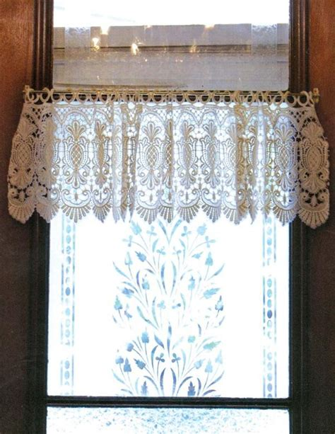 pineapple lace curtains macrame pineapple lace valance