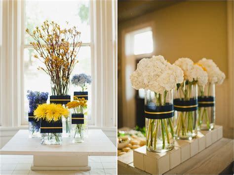 navy and yellow wedding reception decor wedding diy