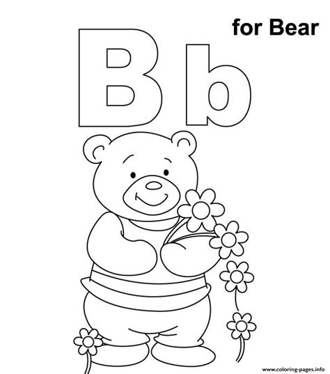 Alphabet B Coloring Pages by Alphabet S B For Bearb3b0 Coloring Pages Printable