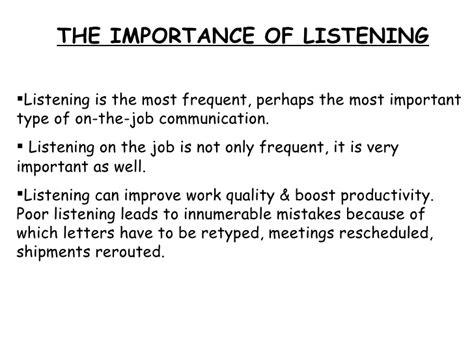 Listening Skills Essay by Listening Skills