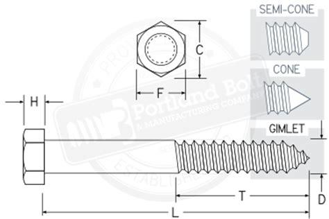 bolt detail drawing hex lag screw portland bolt