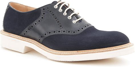 picture of saddle oxford shoes tricker s saddle oxford shoes in blue for navy lyst