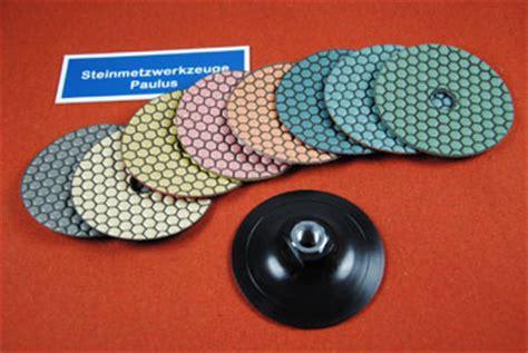 Granit Polieren Drehzahl by Set Waben Polierscheiben Aufnahmeteller