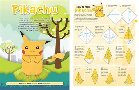how to make an origami pikachu step by step origami fold your own book by pikachu