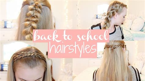 easy back to school hairstyles no heat 5 easy cute back to school hairstyles no heat second