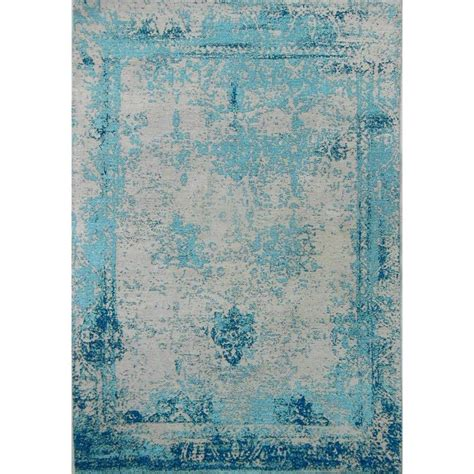Antique Looking Area Rugs Amerihome Teal 5 Ft X 8 Ft Woven Vintage Style Area Rug 802115 The Home Depot