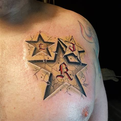 star tattoos on chest for men the gallery for gt designs for on chest