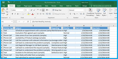 How To Generate Excel Templates In Dynamics Crm 2016 Customer Relationship Management Excel Template