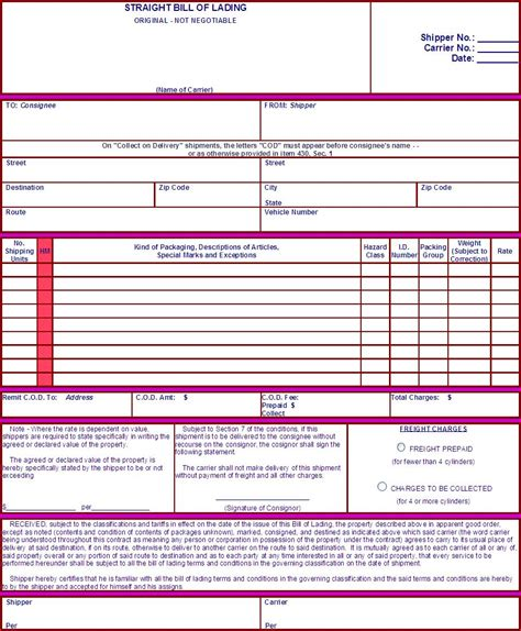 New Environment Inc Our Downloads Hazardous Materials Bill Of Lading Template