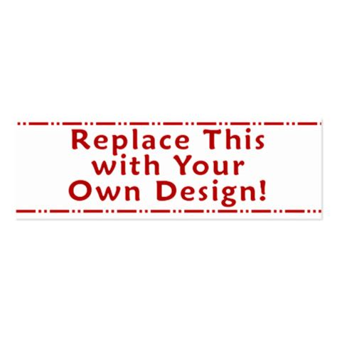 Design My Own 4x8 Card Template by Create Your Own Custom Personalized Bookmark Sided