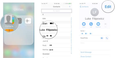 change layout contacts iphone how to use contacts on iphone and ipad imore