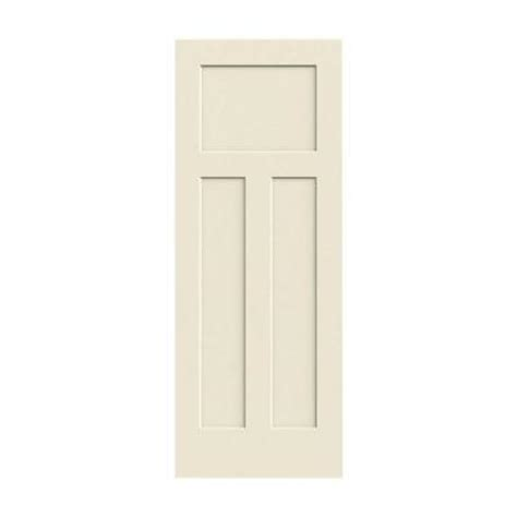 jeld wen 30 in x 80 in craftsman smooth 3 panel solid core primed molded interior door slab