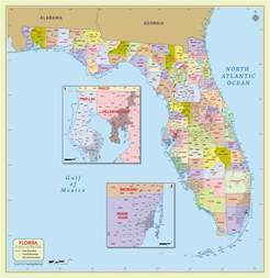 zip codes florida map buy florida zip code with counties map