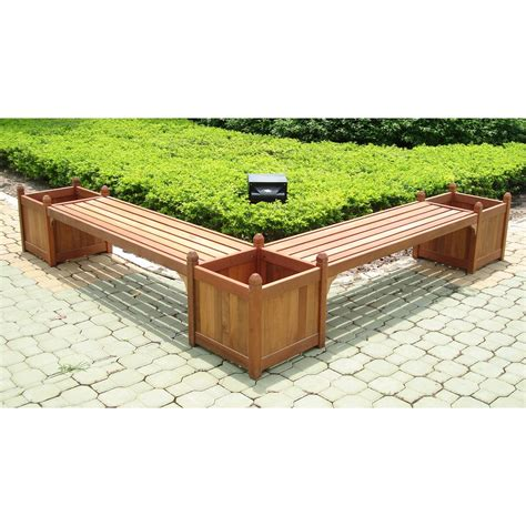 bench with flower box vifah 174 double bench flower box combo 218676 patio