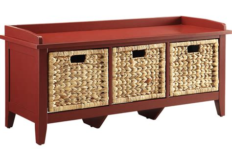 red storage bench flavius red storage bench accent benches colors