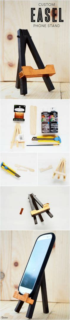 diy phone stand for desk use a mini wood easel to create a useful and cute diy