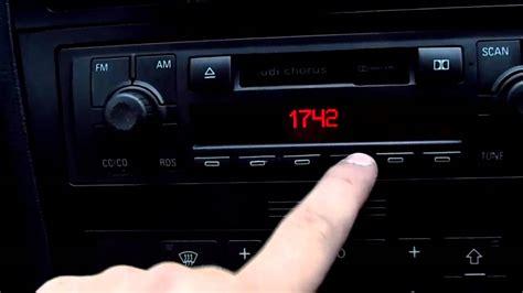 Radio Chorus Audi by Radio Chorus Audi A4 Odblokowanie Youtube