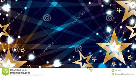 star gold blue night banner stock vector image 56610307