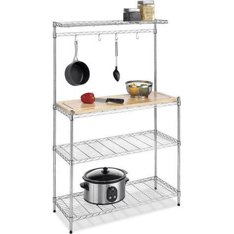 Kitchen Bakers Rack Cabinets Different Spaces Supreme Baker S Rack 36 1 4 L X 14 W X 55 1 4 H Stainless Steel Small