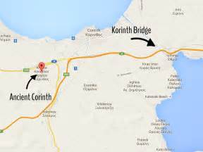 finding the corinth canal olive feta ouzo