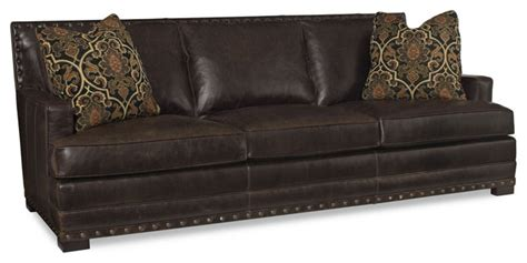 bernhardt cantor leather sofa transitional sofas by