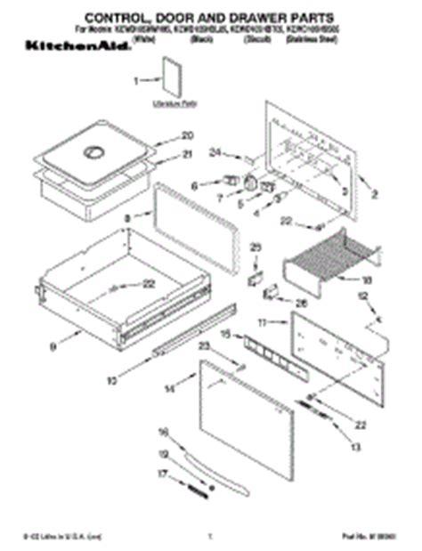 kitchenaid warming drawer parts parts for kitchenaid kewd105hss05 warming drawer