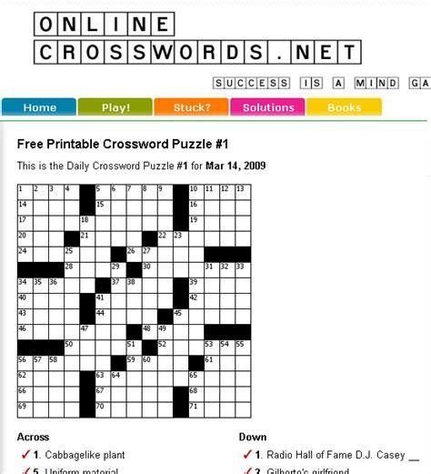 printable free online crossword puzzles onlinecrosswords free printable crossword puzzles