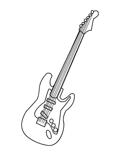 guitar coloring pages getcoloringpages com