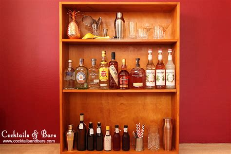 how to set up a home bar cocktails bars
