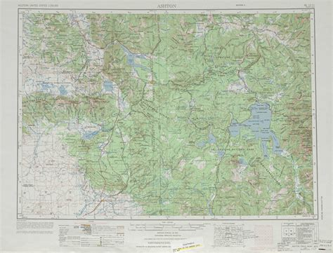 physical map of wyoming ashton topographic maps wy id mt usgs topo