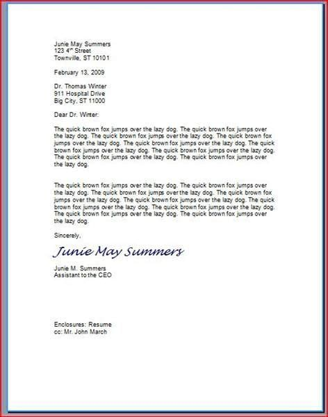 How To Format A Professional Letter