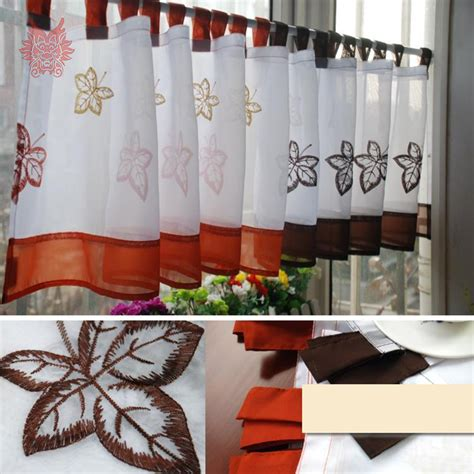 Orange Kitchen Curtains Orange Kitchen Curtains Promotion Shop For Promotional Orange Kitchen Curtains On Aliexpress