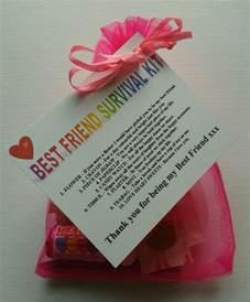 best friend survival kit birthday keepsake gift present