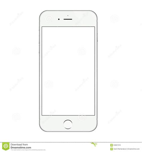 iphone layout vector realistic white iphone 6 blank screen vector design vector
