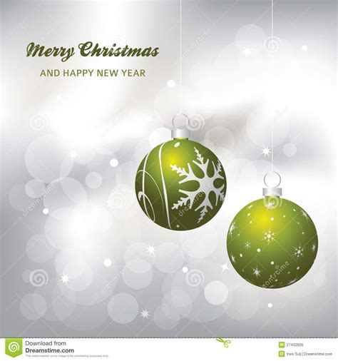 green silver for christmas card background green and silver stock vector image 27432606