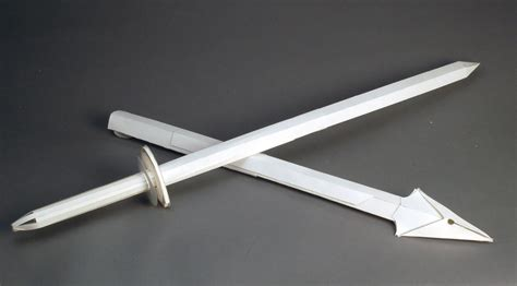 How To Make A Paper Weapons - paper sword by revan506 on deviantart
