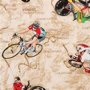 Kitchen Remodeling Designer by Bike Race Fabric By Timeless Treasures Tour De France