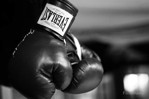 Black And White Gloves quot everlast boxing gloves black and white quot prints by