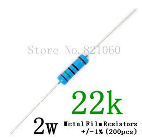 resistor 22k 2w aliexpress buy 2w 22k ohm 1 metal resistor 2w 22k color ring resistors 50pcs lot