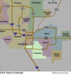 chandler arizona map chandler area map and surrounding cities