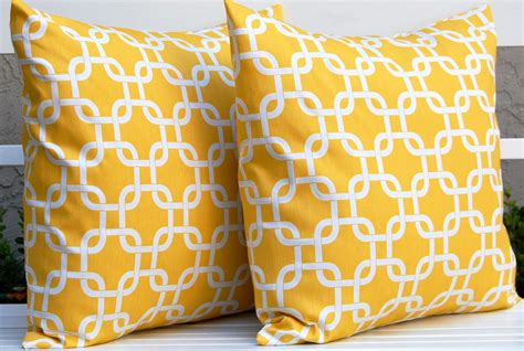 yellow patterned pillows decorative pillows yellow interior decorating