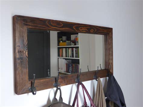 entry way mirror mirror coat rack rustic mirror antique hooks entryway