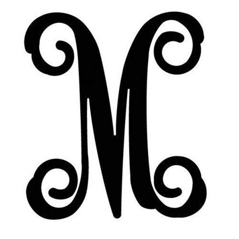Initial M 4 best images of monogram letter m initial monogram