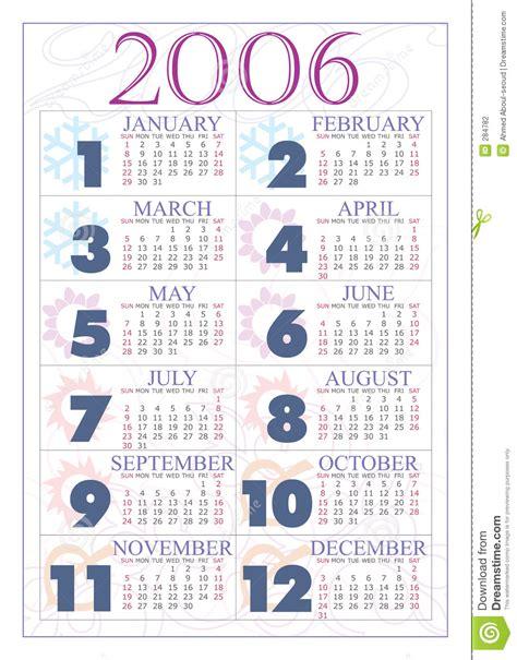 Z Calendario 2006 Calendar 2006 Stock Photography Image 284782