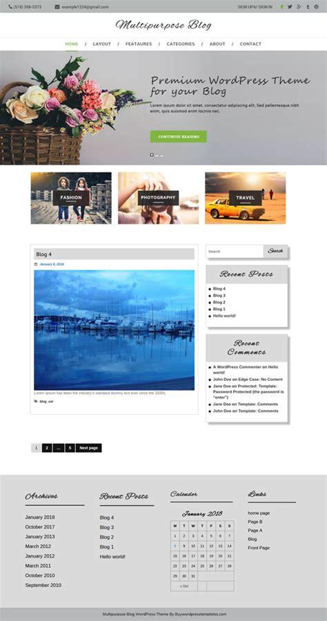 blog theme purchase best free multipurpose blog wordpress theme for bloggers