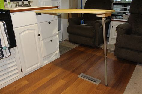 how to add 36 inches to your small rv kitchen countertop