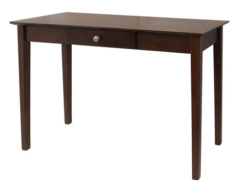 winsome rochester console table with one drawer shaker by